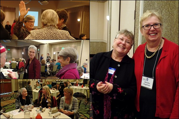 Friendly people are found at the AAUW SGB Luncheons